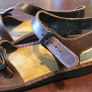 Naot women's Lucerne leather sandal US 7
